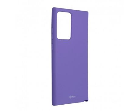 Husa Spate Silicon Roar Jelly Compatibila Cu Samsung Galaxy Note 20 Ultra, Mov