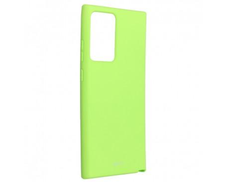 Husa Spate Silicon Roar Jelly Compatibila Cu Samsung Galaxy Note 20 Ultra, Verde Lime