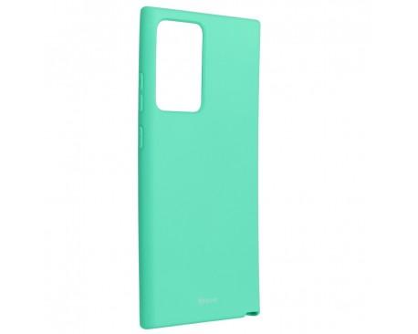 Husa Spate Silicon Roar Jelly Compatibila Cu Samsung Galaxy Note 20 Ultra, Verde Menta