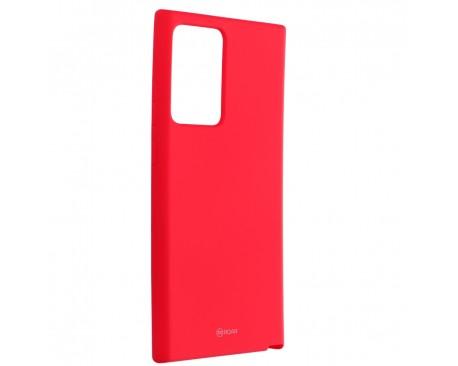 Husa Spate Silicon Roar Jelly Compatibila Cu Samsung Galaxy Note 20 Ultra, Roz Aprins
