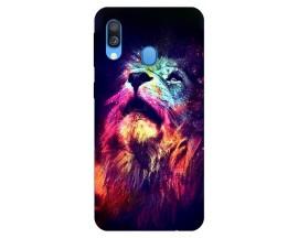 Husa Silicon Soft Upzz Print Compatibila Cu Samsung Galaxy A40 Model Neon Lion