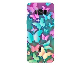 Husa Silicon Soft Upzz Print Compatibila Cu Samsung Galaxy S8 Model Colorfull Butterflies