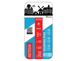 Husa Silicon Soft Upzz Print Travel Compatibila cu Iphone 7 - Iphone 8 Model Amsterdam
