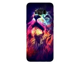 Husa Silicon Soft Upzz Print Compatibila Cu Samsung Galaxy S8 Model Neon Lion