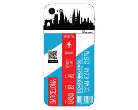 Husa Silicon Soft Upzz Print Travel Compatibila cu Iphone 7 - Iphone 8 Model Barcelona