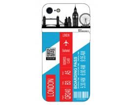 Husa Silicon Soft Upzz Print Travel Compatibila cu Iphone 7 - Iphone 8 Model London