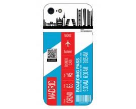 Husa Silicon Soft Upzz Print Travel Compatibila cu Iphone 7 - Iphone 8 Model Madrid