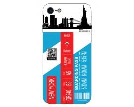 Husa Silicon Soft Upzz Print Travel Compatibila cu Iphone 7 - Iphone 8 Model New York
