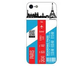 Husa Silicon Soft Upzz Print Travel Compatibila cu Iphone 7 - Iphone 8 Model Paris