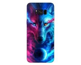 Husa Silicon Soft Upzz Print Compatibila Cu Samsung Galaxy S8+ Model Wolf