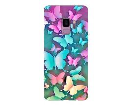 Husa Silicon Soft Upzz Print Compatibila Cu Samsung Galaxy S9 Model Colorfull Butterflies