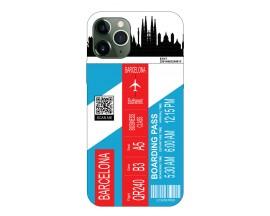 Husa Silicon Soft Upzz Print Travel Compatibila cu Iphone 11 Pro Model Barcelona