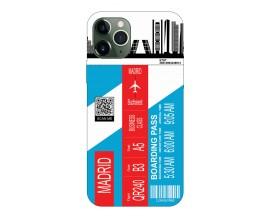 Husa Silicon Soft Upzz Print Travel Compatibila cu Iphone 11 Pro Model Madrid
