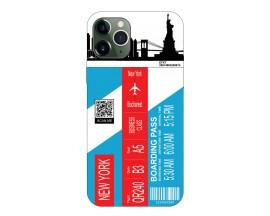 Husa Silicon Soft Upzz Print Travel Compatibila cu Iphone 11 Pro Model New York