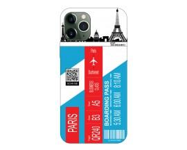 Husa Silicon Soft Upzz Print Travel Compatibila cu Iphone 11 Pro Model Paris