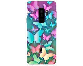 Husa Silicon Soft Upzz Print Compatibila Cu Compatibila Cu Samsung Galaxy S9+ Plus Model Colorfull Butterflies