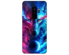 Husa Silicon Soft Upzz Print Compatibila Cu Compatibila Cu Samsung Galaxy S9+ Plus Model Wolf