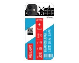 Husa Silicon Soft Upzz Print Travel Compatibila cu Iphone 11 Model Amsterdam