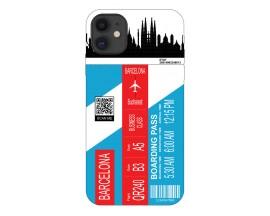 Husa Silicon Soft Upzz Print Travel Compatibila cu Iphone 11 Model Barcelona