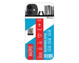 Husa Silicon Soft Upzz Print Travel Compatibila cu Iphone 11 Model Madrid