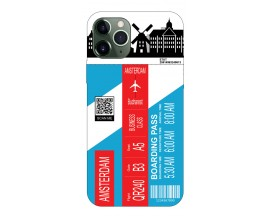 Husa Silicon Soft Upzz Print Travel Compatibila cu Iphone 11 Pro Max Model Amsterdam