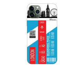 Husa Silicon Soft Upzz Print Travel Compatibila cu Iphone 11 Pro Max Model London