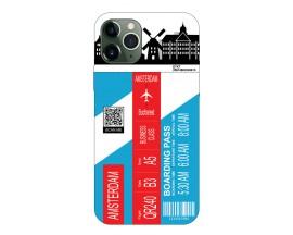Husa Silicon Soft Upzz Print Travel Compatibila cu Iphone 12 Pro Max Model Amsterdam