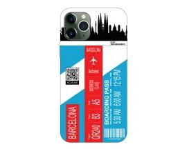 Husa Silicon Soft Upzz Print Travel Compatibila cu Iphone 12 Pro Max Model Barcelona