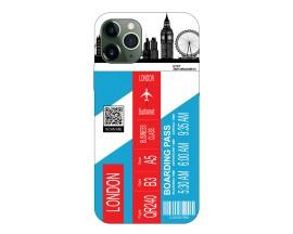 Husa Silicon Soft Upzz Print Travel Compatibila cu Iphone 12 Pro Max Model London