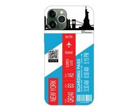 Husa Silicon Soft Upzz Print Travel Compatibila cu Iphone 12 Pro Max Model New York