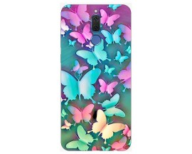 Husa Silicon Soft Upzz Print Compatibila Cu Huawei Mate 10 Lite Model Colorfull Butterflies