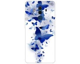 Husa Silicon Soft Upzz Print Compatibila Cu Huawei Mate 10 Pro Model Blue Butterflies