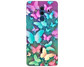 Husa Silicon Soft Upzz Print Compatibila Cu Huawei Mate 10 Pro Model Colorfull butterflies