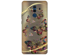 Husa Silicon Soft Upzz Print Compatibila Cu Huawei Mate 10 Pro Model Golden Butterfly