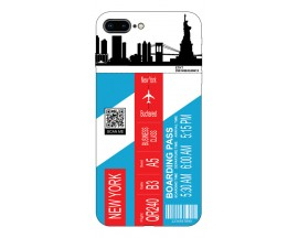 Husa Silicon Soft Upzz Print Travel Compatibila cu Iphone 7 Plus / 8 Plus Model New York