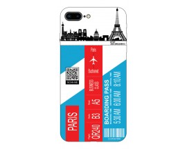 Husa Silicon Soft Upzz Print Travel Compatibila cu Iphone 7 Plus / 8 Plus Model Paris