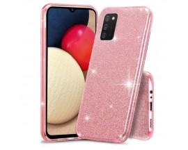 Husa Spate Upzz Shiny Compatibila Cu Samsung Galaxy A02s, Roz