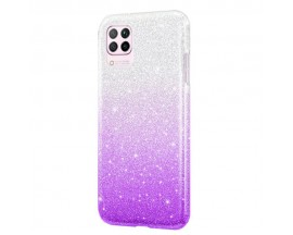 Husa Spate Upzz Shiny Compatibila Cu Samsung Galaxy A12, Silver Mov