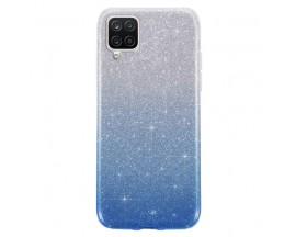 Husa Spate Upzz Shiny Compatibila Cu Samsung Galaxy A12, Silver Albastru