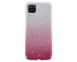 Husa Spate Upzz Shiny Compatibila Cu Samsung Galaxy A12, Silver Roz