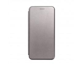 Husa Flip Carte Cu Magnet Lux Upzz Compatibila Cu Samsung Galaxy A02s, Piele Ecologica, Silver