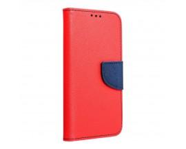Husa Flip Carte Upzz Fancy Book Compatibila Cu Samsung Galaxy A02s, Navy Rosu