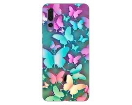 Husa Silicon Soft Upzz PrintCompatibila Cu Huawei P20 Pro Model Colorfull Butterflies