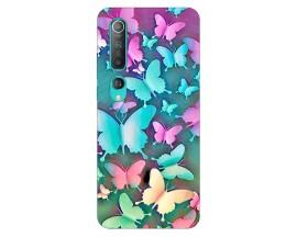 Husa Silicon Soft Upzz Print Compatibila Cu Xiaomi Mi 10 Pro/Mi 10 Model Colorfull Butterflies