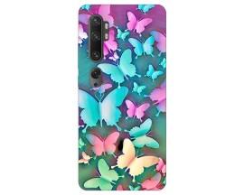 Husa Silicon Soft Upzz Print Compatibila Cu Xiaomi Mi Note 10/mi Note 10 Pro Model Color Butterflies