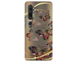 Husa Silicon Soft Upzz Print Compatibila Cu Xiaomi Mi Note 10/ Mi Note 10 Pro Model Golden Butterfly