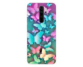 Husa Silicon Soft Upzz Print Compatibila Cu Xiaomi Redmi Note 8 Pro Model Colorfull Butterflies