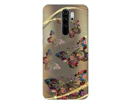 Husa Silicon Soft Upzz Print Compatibila Cu Xiaomi Redmi Note 8 Pro Model Golden Butterfly