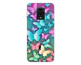 Husa Silicon Soft Upzz Print Compatibila Cu Xiaomi Redmi Note 9 Pro Model Colorfull Butterflies