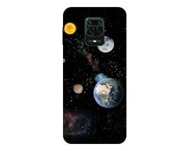 Husa Silicon Soft Upzz Print Compatibila Cu Xiaomi Redmi Note 9 Pro Model Earth